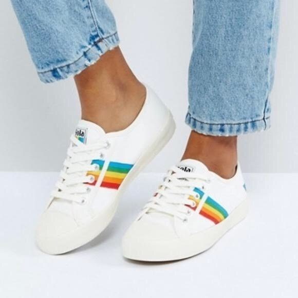 5e16f74fbb4 Gola Shoes | Classics Womens Coaster Rainbow Sneakers | Poshmark